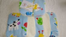 Bamboo & Fleece Wipes Pack 10 Beautiful Farmyard Design